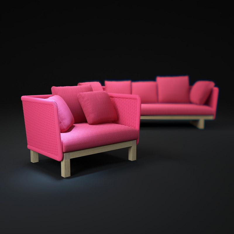 3d sabi-sofa model