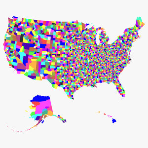 3d model of united states counties