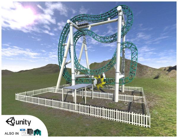 roller coaster obj