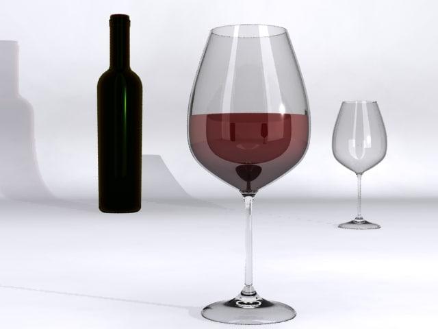 wine glass obj