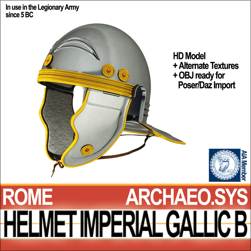 3d model roman legionary helmet imperial