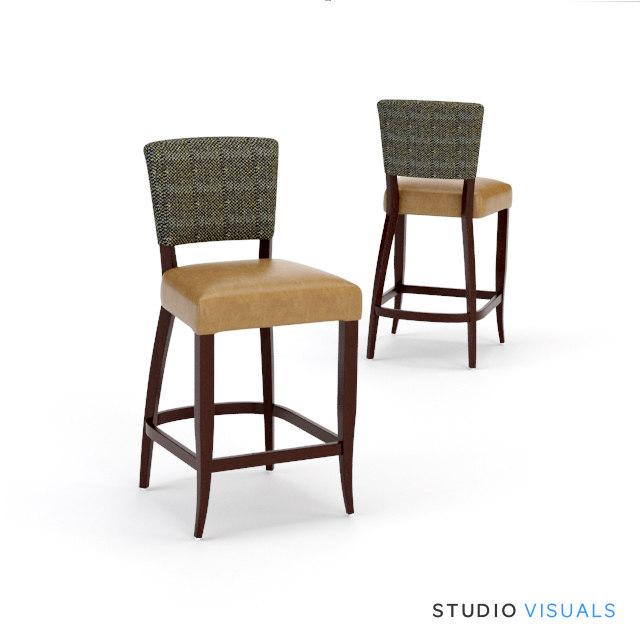 adele fabric stool max