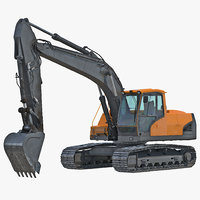 Tracked Excavator Generic 3D Model