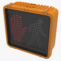 dont walk signal 3d model