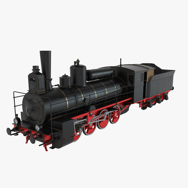 steam locomotive 3d max