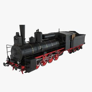 steam locomotive 3d max