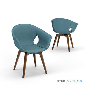 cafe dining chair 3d model