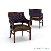 wood arm chair 3d max