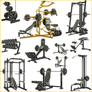 big equipment bodybuilding powertec 3d c4d