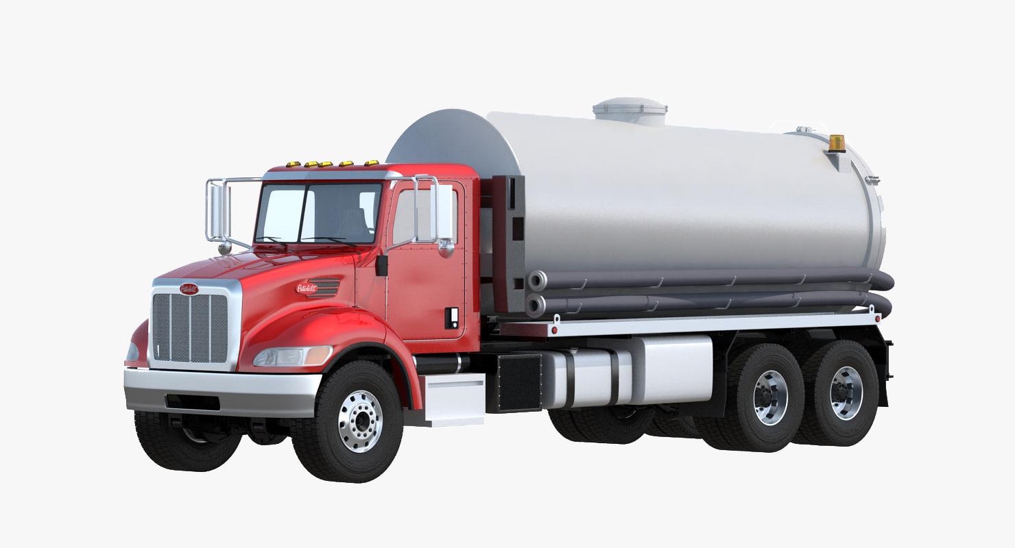 3d septic vacuum truck