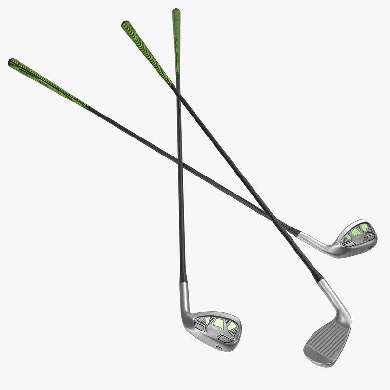 9 iron golf club 3d model