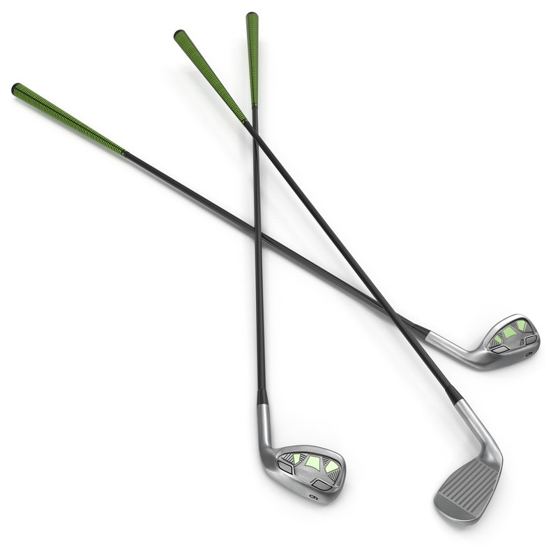 9 iron golf club 3d model