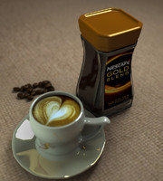 nescafe gold 3d model