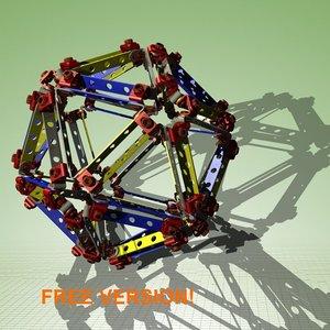 free max model assembly icosahedron himself!