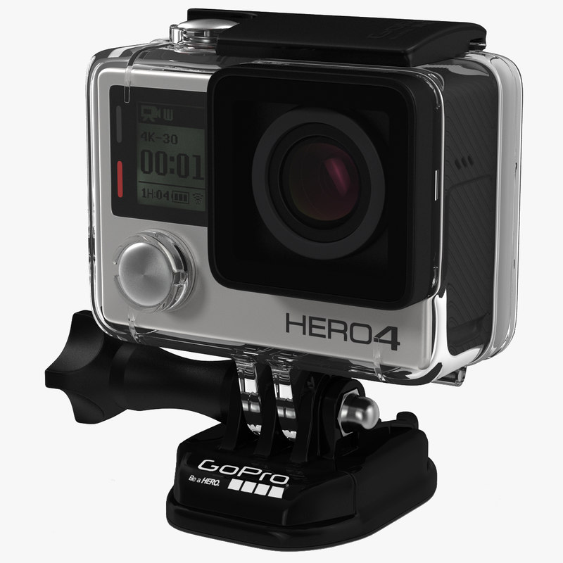 3d gopro hero4 black edition model