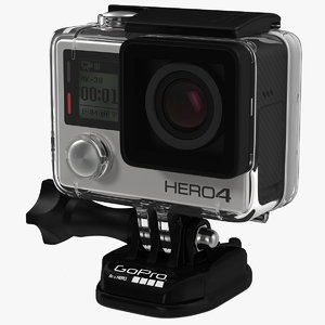 3d gopro hero4 black edition model