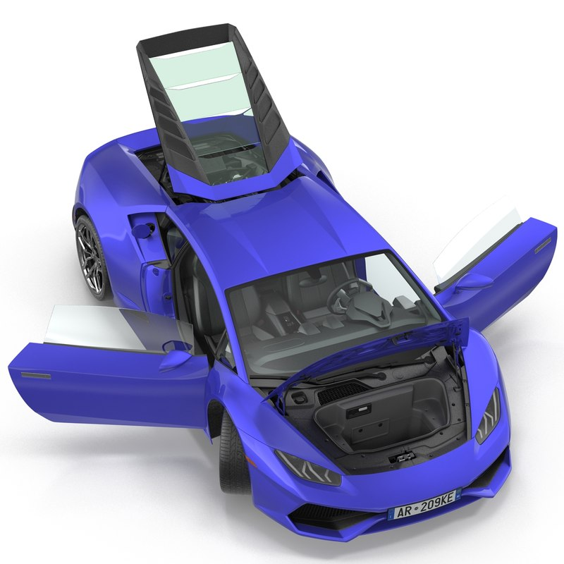 supercar rigged 3d model