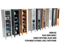 3d model of ikea bookcase glass-door cabinet