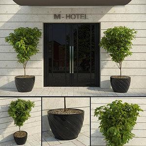 3d modern decorative tree