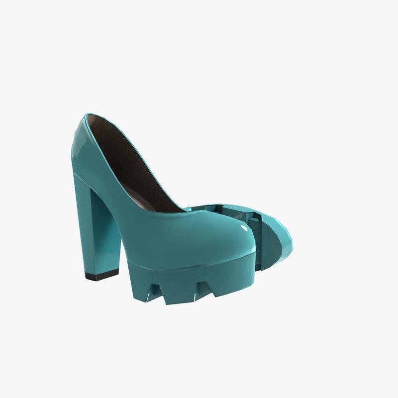 highheels heel 3d model