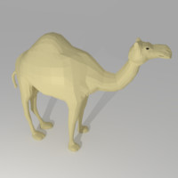 3d cartoon camel model