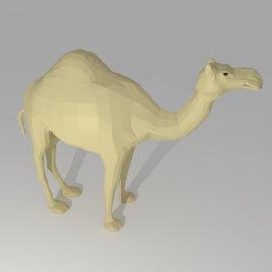cartoon camel 3ds