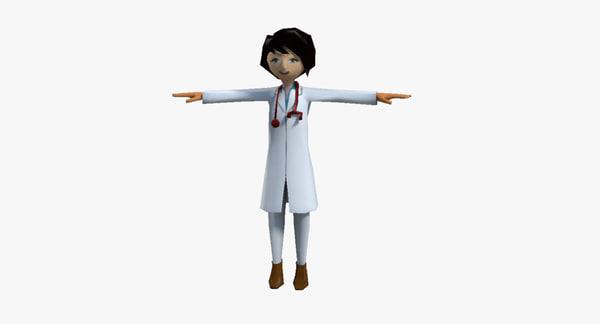 3d cartoon doctor model