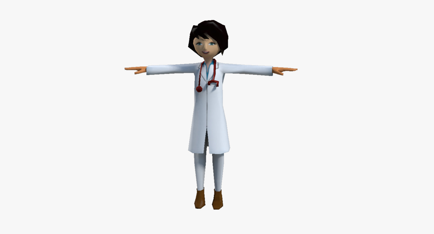 3d cartoon doctor model