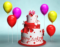 Birthday Cake 3D Models for Download TurboSquid