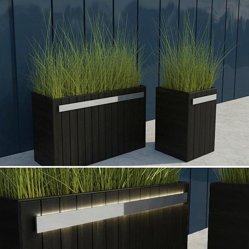3d model modern grass ii