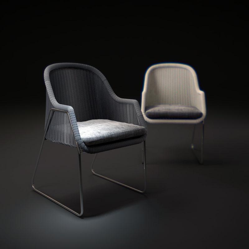 3d model kiddy-mood-chair
