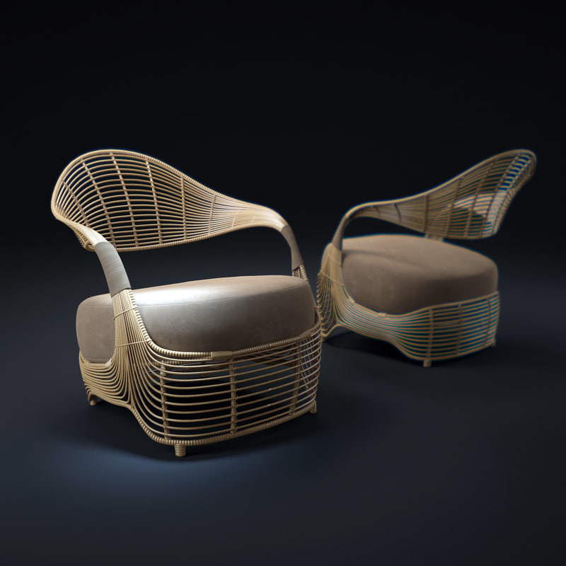 3d manolo-easy-armchair model