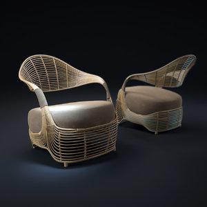 3d manolo-easy-armchair model