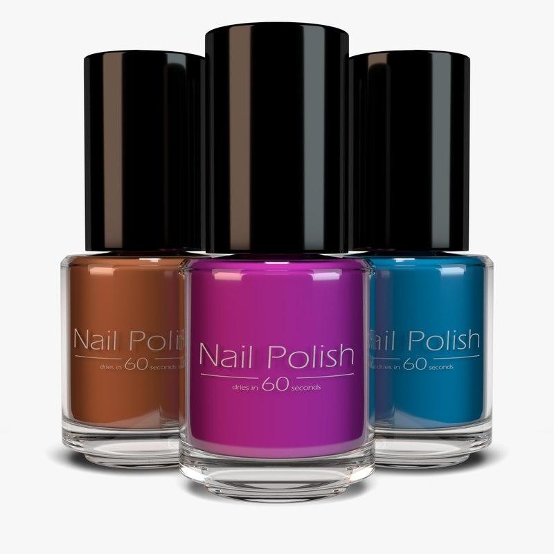3d model nail polish
