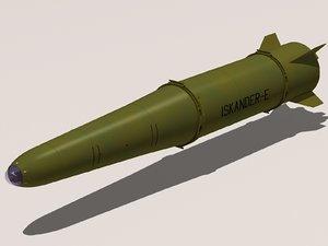 3ds iskander 9m723-1 missile