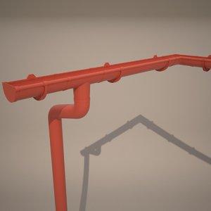 3d model chute trough
