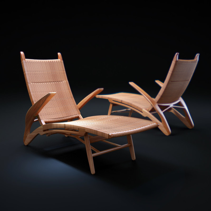 1950 s-dolphin-chaise 3d model
