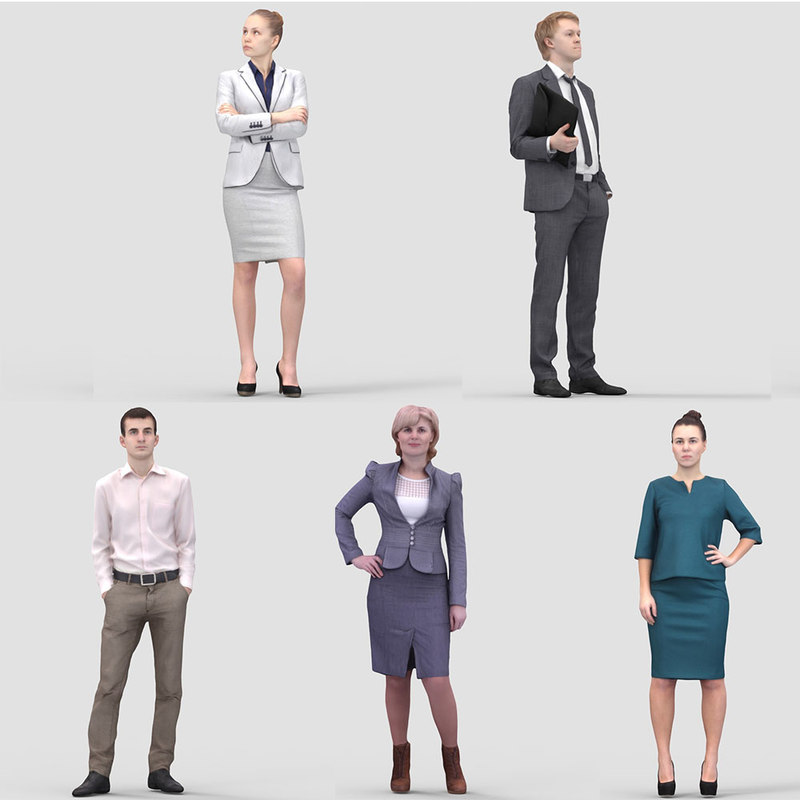 3d realistic business humans