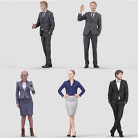 realistic business humans 3d 3ds