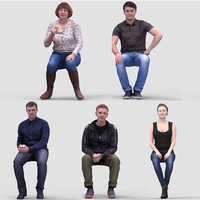 3D Human Model Vol. 1 Casual Sitting People