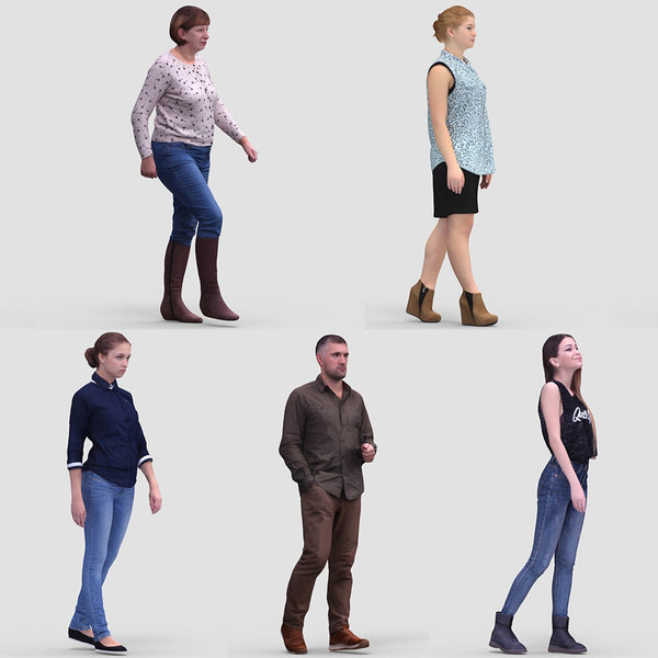 realistic human 3ds