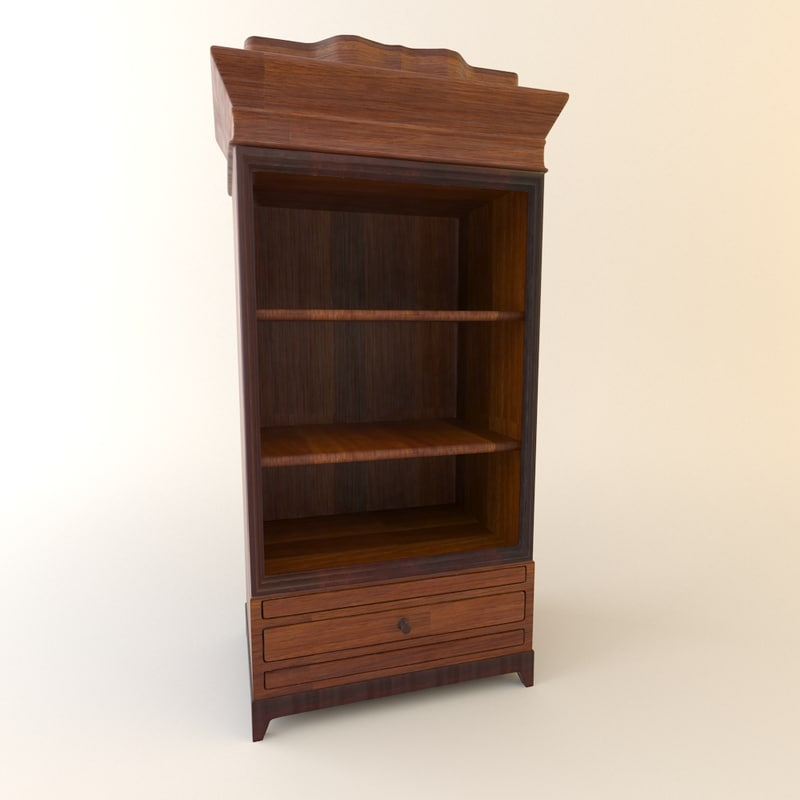 wardrobe furniture wood 3d max