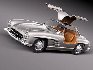 mercedes sl 1957 3d model
