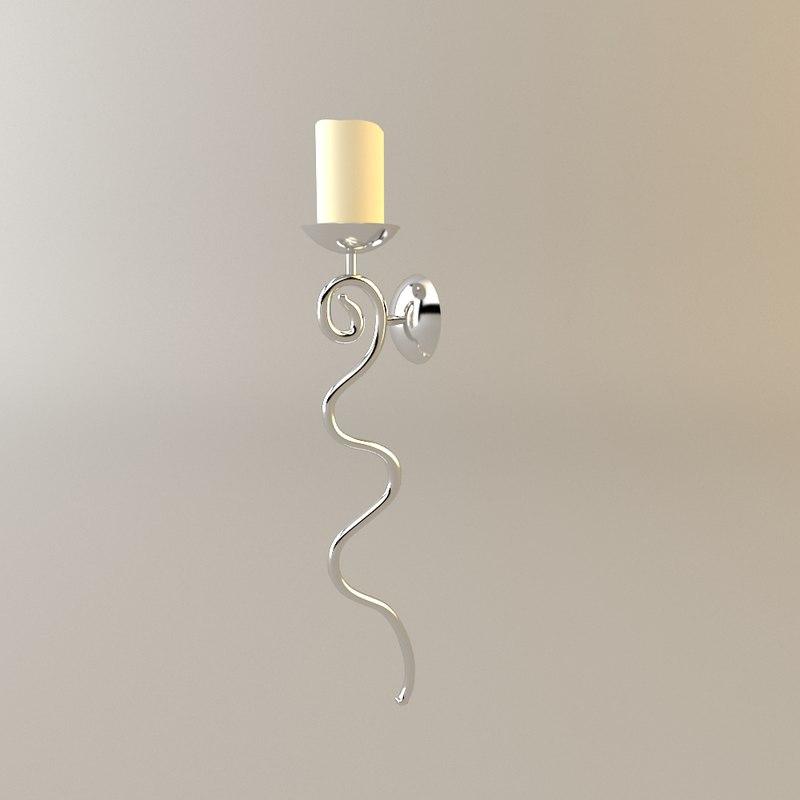3d suspensed candlestick model