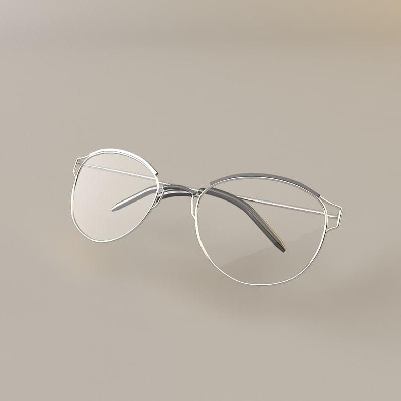 reading glasses 3d model