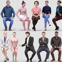 3D Human Model Vol. 3  Sitting People