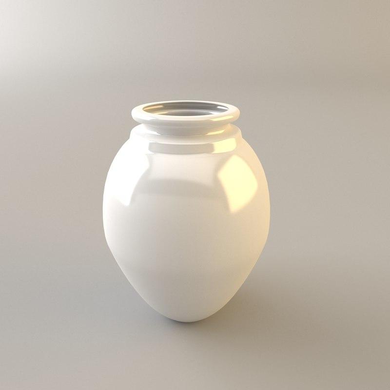 3d vase ceramic model