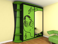 closet green 3d model