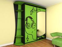 closet green 3d model