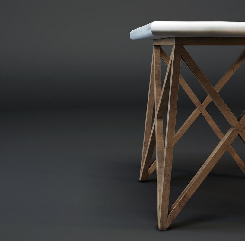 3d model criss cross table